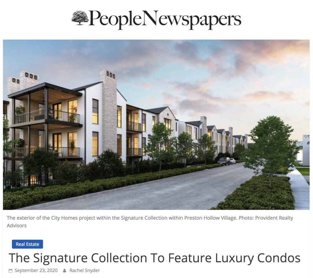 People Newspapers City Home Preston Hollow Condominiums The Signature Collection